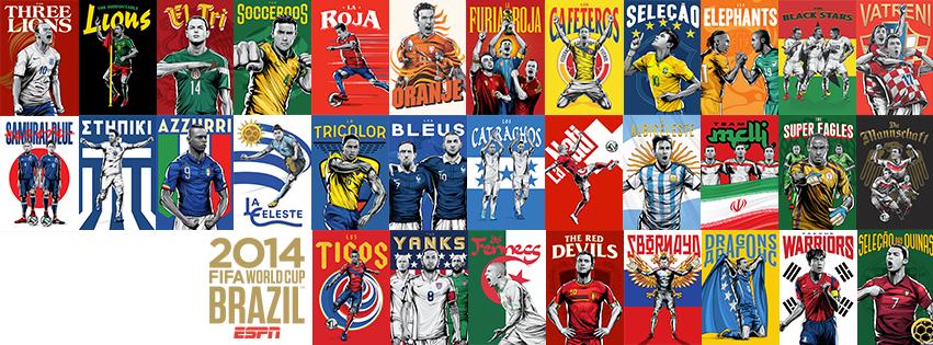 ESPN世界杯海报壁纸下载:2014巴西世界杯